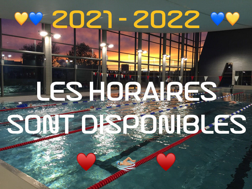 💙💛 Les horaires 2021 – 2022 💛💙