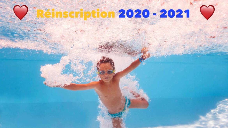 💛 Réinscriptions 2020 – 2021 💙